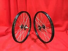 NOS VINTAGE BLACK ARAYA WHEELS 7X SANSHIN HUBS 36 SPOKE BMX FREESTYLE RACING