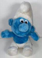 "Schleich Peyo 1980 VINTAGE 8"" Smurf Bean Bag Plush Toy VTG"