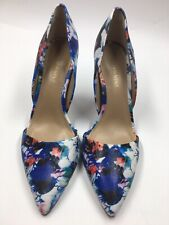 New Saks Fifth Avenue Floral Print Heels Size 8