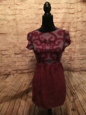 Guess By Marciano Women's Maroon Fall Dress With Back Tie Size Extra Small