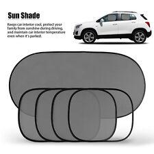5PCS Car Side Rear Window Screen Sun Shade Mesh Cover Windshield Sunshade Visor