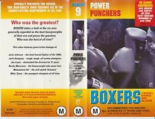 Vhs *POWER PUNCHERS-ALI:TYSON:LOUIS:DEMPSEY?* RARE Marshall Cavendish Collection