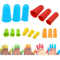 3Pcs/Set Silicone Finger Protector Finger Caps Nail Fingertips Cover Grill Tools