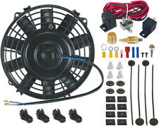 """7"""" INCH ELECTRIC RADIATOR COOLING FAN 3/8"""" PROBE GROUND THERMOSTAT SWITCH KIT"""