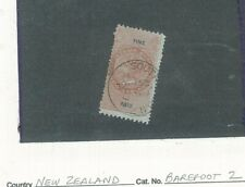 New Zealand - Fine Paid 1867 - High Value - QV Reign -Barefoot 2 - Used