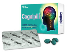 Cognipill 30 Caps for Cognition, Memory & Concentration Brain-Boosting Nutrients