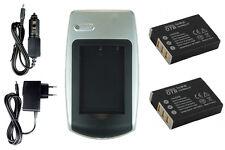 2 Akkus + Ladegerät NP-95 NP95 für Fuji Fujifilm Finepix X100, X100s, X-S1