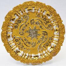 Meissen Porzellan Prunkteller Reliefteller Teller vergoldet 18./19.Jh. Ø 20,5 cm