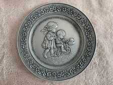 """Hallmark Pewter Special Day Plate 1983 """"We Learn of Love"""""""
