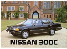 Nissan 300C 1984-87 UK Market Sales Brochure Saloon Estate Cedric