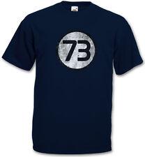 NAVY THE BIG BANG NUMBER 73 THEORY VINTAGE LOGO T-SHIRT - Sheldon Zahl Cooper