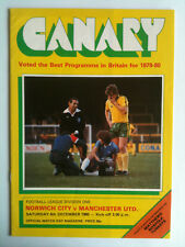 1980/81 Norwich City v Manchester United 1st Division