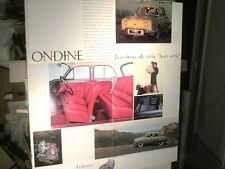GRAND DEPLIANT/AFFICHE 1961 RENAULT DAUPHINE / ONDINE