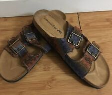 pre-owned womens brown boho American Eagle sandals size 8