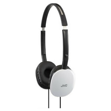 JVC pisos Ligero On-Ear Headphones para iPhone y Android-Blanco-HA-S160-W