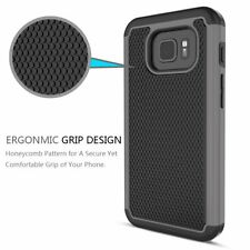 Samsung Galaxy S7 Active Case Hybrid Shockproof Dual Layer Rugged Cover Gray NEW