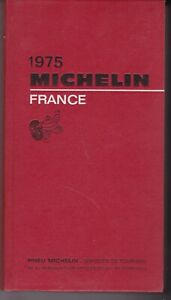 guide MICHELIN rouge FRANCE 1975
