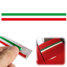 Car PVC Italian Italy Flag Sticker Strip Decal Badge Bright Color 40 x1.2cm