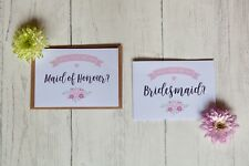 Will You Be My Bridesmaid/ Maid of Honour / Floral Greetings card