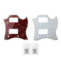2 Pcs Pickguard Full Face For Gibson SG Guitar Replacement With Screws 3 Ply