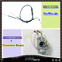 YAMAHA PW50 PEEWEE 50 CARBURETOR  + MATTCHING THROTTLE CABLE/LINE ALL YEAR MODEL