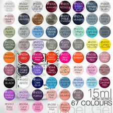 15ml Mabel's Gel Nail Art Soak Off Color UV Gel Polish - New Colour N001-N060