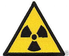 PATCH RICAMO TOPPA RADIOATTIVO RADIOACTIVE RAGGI X NUCLEARE RADIAZIONI DANGER