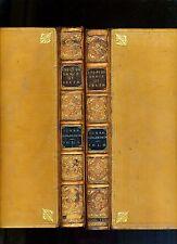 ENGLISH DANCE OF DEATH. ROWLANDSON, COMBE. 2 VOLS LEATHER, 1816. ACKERMANN, RARE