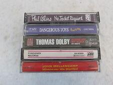 5 ROCK CASSETTES by P.Collins,Dangerous Toys, T.Dolby,Foreigner,John Mellencamp