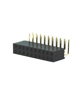 50pc Female Pin Header Dual 2.54x2.54mm Right Angle 90° 2x5 2x5P 10P #230-10