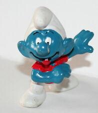 Vintage Smurf Schleich Figure 1978 Peyo Red Shirt PVC NEW NOS
