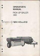 New Holland Baler 366 Operators Manual