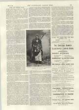 1892 Sir Gerald Portal In Abyssinian Dress Liberty Hall St James Theatre