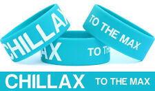 Chillax To The Max Wristband Fun Bracelet Get the Message Chill and Relax Band