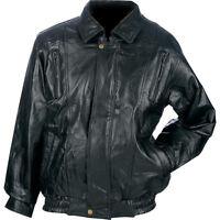NWT MENS Genuine Black Lambskin Leather Basic Jacket M L large XL 2X 3X GIFT