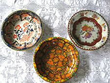 3 Daher England Collectible Decorated Ware Bowls