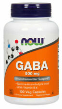 Now Foods Gaba 500mg - 100 Veggie Caps