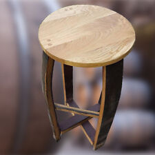 70 cm Tall Recycled Whisky Barrel Stave Bar Stool
