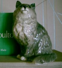 ROYAL DOULTON PERSIAN CAT GREY GLOSS MODEL  No DA 126 PERFECT CONDITION WITH BOX