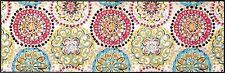 wash+dry Bodenmatte Teppich waschbar Fußmatte Läufer 60 x 180 cm Vintage Fresko