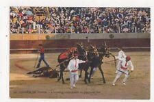 Corridas de Toros L'Arrastre Spain Vintage Postcard 466a