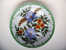 Keramik Wandteller Teller Flora Keramiek Gouda Holland Niederlande vintage 23cm