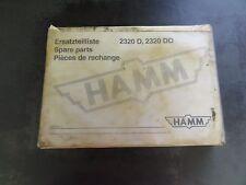 HAMM 2320 D 2320 DO Spare Parts Manual  Catalog