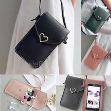 Luxury Shoulder Bag Pouch+ Strap PU Leather Pocket card Wallet Purse Phone Case