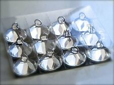 12 x Crystal Diamond Balloon Weights Silver Wedding Day Party Event Accessories