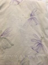 Pottery Barn Kids Purple Fairy Ballerina TWIN Fitted And Flat Sheets EUC