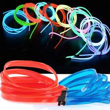 Neon LED Light Waterproof Glow EL Wire String Strip Rope Tube Dance Party Car