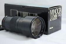 MINOLTA MD 300MM F4.5 TELE ROKKOR-X CAMERA LENS