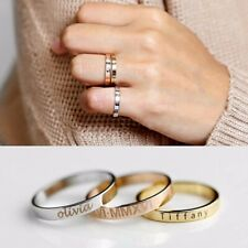 Unique Stainless Steel Personalized Custom Engraved Name Date Ring Birthday Gift
