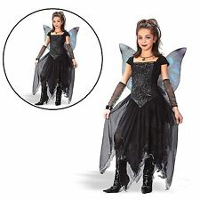 Girl's Kids Goth Fairy Costume Complete Outfit Adult  Fancy Dress UK 6/9 Years